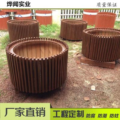 防腐木花箱_上海厂家定制防腐木花箱