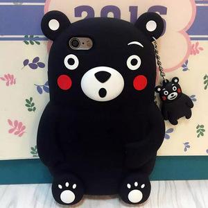 可爱日本熊本熊立体硅胶苹果7手机壳iphone6s