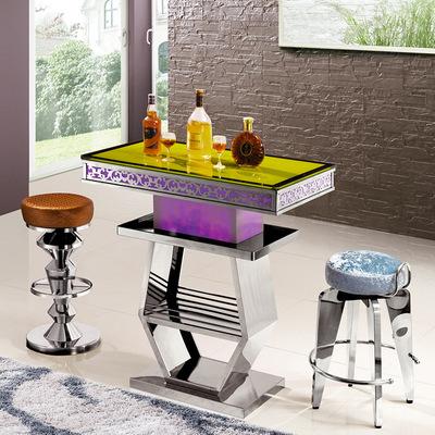 不锈钢椅子_利屏欧式不锈钢酒吧椅子家用凳简约美容