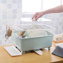 碗柜塑料厨房沥水碗架带盖碗筷餐具收纳盒放碗碟架滴水碗盘置物架