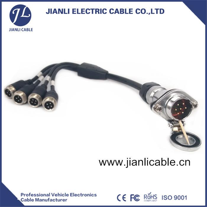 插头连接线_6公母航空插头连接线
