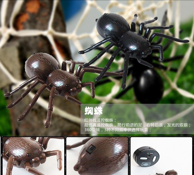 创意遥控仿真蜘蛛动物模型玩具仿真益智