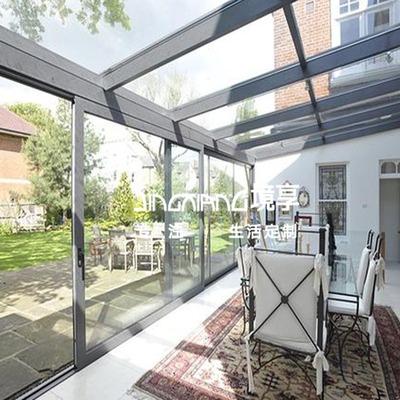 庭院造型钢结构玻璃阳光房精心制作