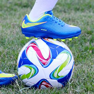 2016儿童新款长钉足球鞋户外训练鞋正品男童女童圆钉运动鞋AG梅西