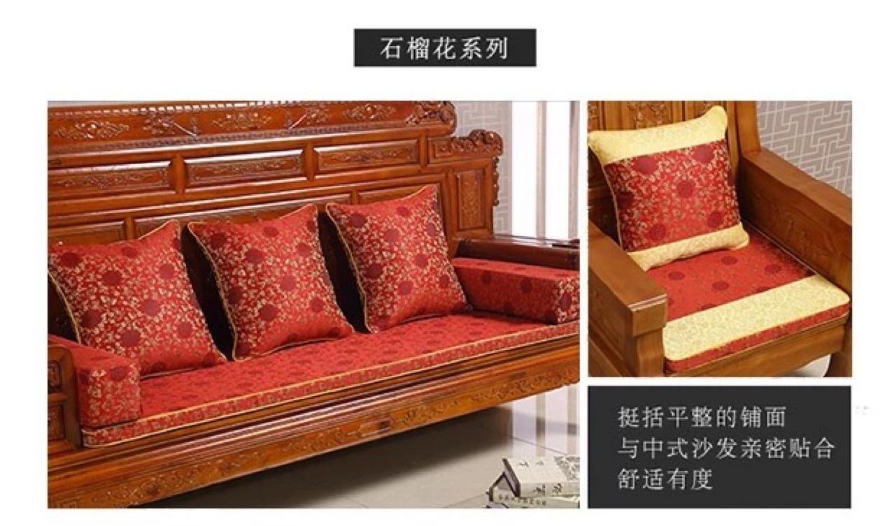 巴比兔红木沙发垫坐垫中式新中式沙发垫加厚海绵可