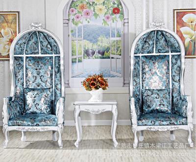新古典公主椅酒店大厅装饰椅欧式形象单人