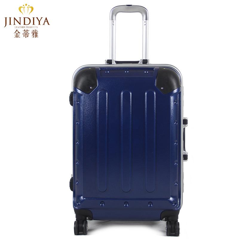 定制 磨砂铝框拉杆箱包 20寸行李箱男女旅行箱包万向轮登机箱子图片