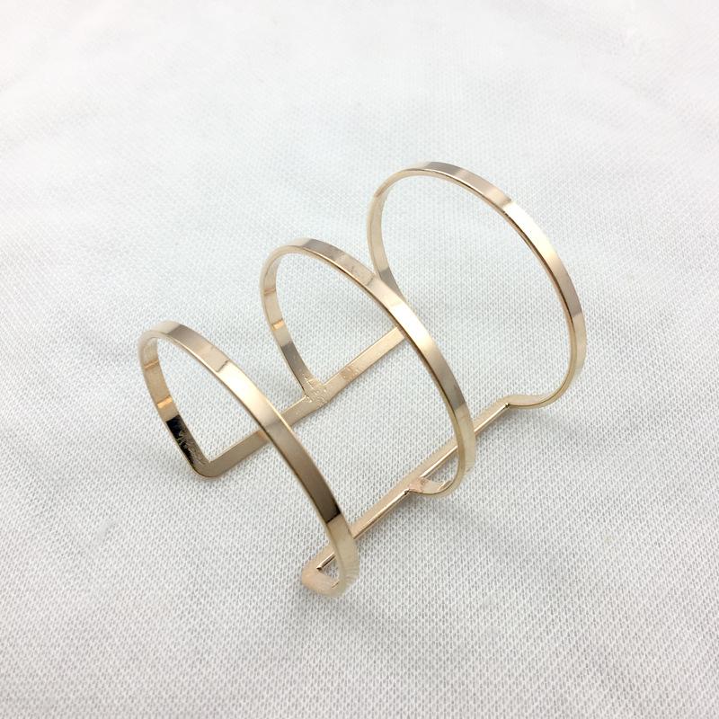 义乌外贸韩版手镯批发 开口欧美个性几何型手镯 厂家直销 可定制