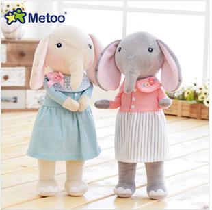 咪兔metoo 气吉象玩偶 大象公仔 毛绒玩具布娃娃 儿童女生礼物