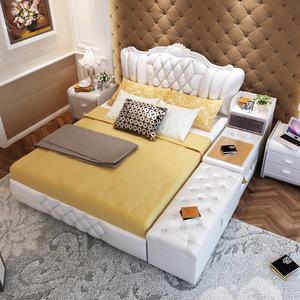 2016新款现代床豪华版法式风格白色欧式床卧室家具1
