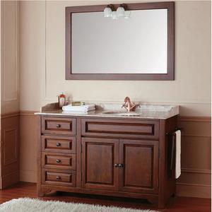 欧式简约浴室柜橡木实木落地浴柜组合