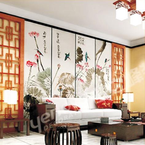 欧式彩绘玻璃背景墙