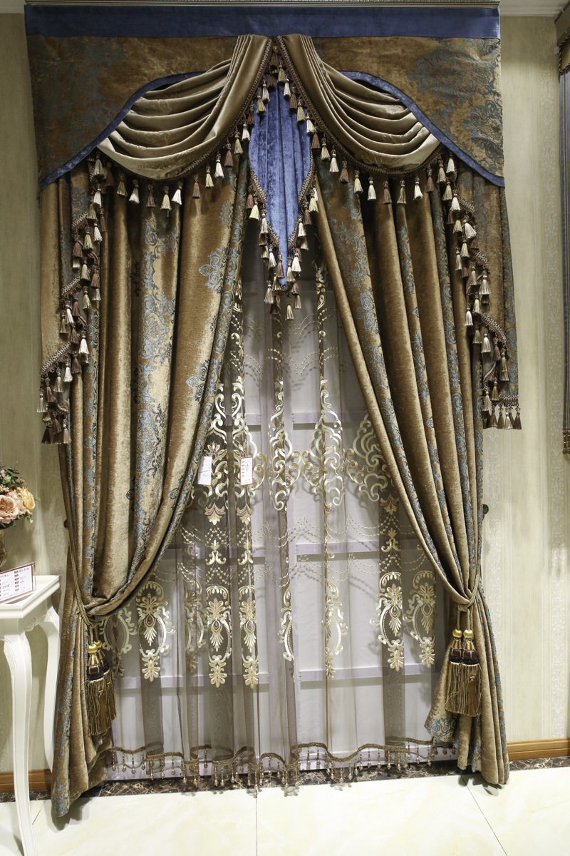 欧式窗帘_2016新款欧式窗帘客厅卧室阳台客厅窗帘