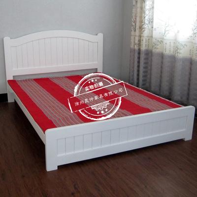 实木家具_2016新款实木床北欧日式实木床实木家具