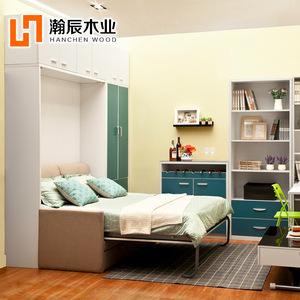 隐形床多功能壁柜折叠翻板墨菲床小户型客厅卧室家具
