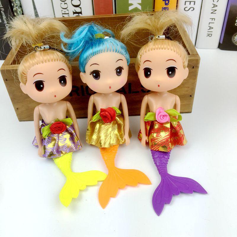可爱美人鱼娃娃v娃娃奇梦赠品芭比玩具地摊礼鼻子女孩公主吉娃娃货源不太湿图片