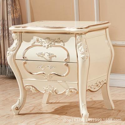 欧式家具_厂家直销珠光漆欧式家具印花床头柜