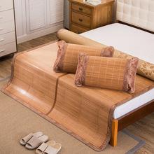 安吉竹席厂家批发出水芙蓉双面可折叠竹席碳化水磨凉席一件代发