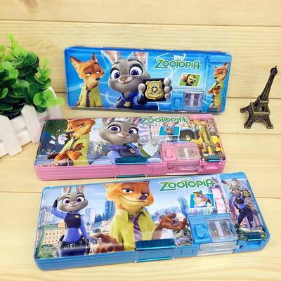卡通铅笔盒_:7100迪士尼疯狂动物城文具盒