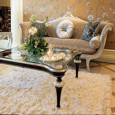 最新款欧式客厅沙发/实木金银箔沙发/欧式新古典家具