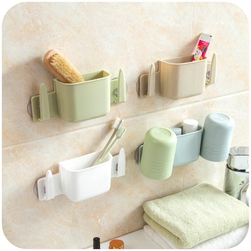 吸盘式洗脸刷牙洗漱架牙刷架套装 创意可沥水多功能收纳架图片