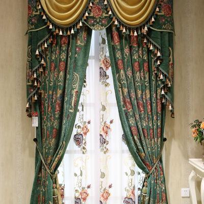 欧式窗帘_2016新款欧式窗帘成品客厅卧室阳台客厅