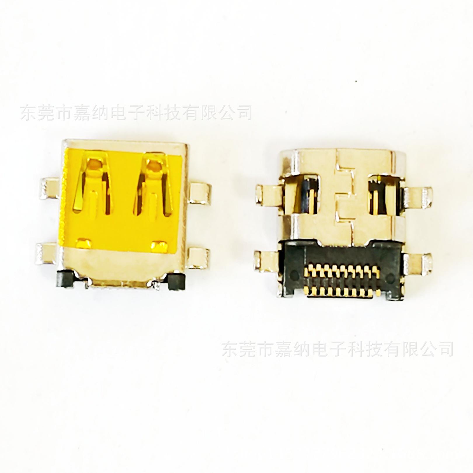 厂家直销连接器MICRO HDMI 19P母头 D TY