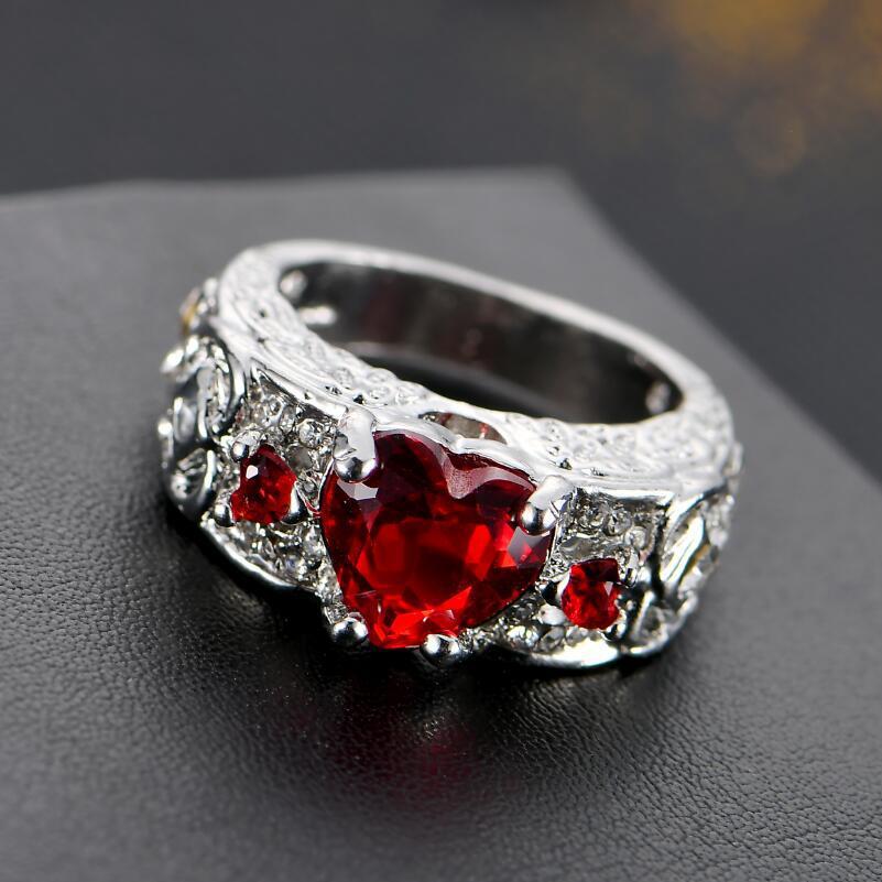 Grosshandel Saphir Ringe Blue Diamond Ring Verlobungsringe Heart