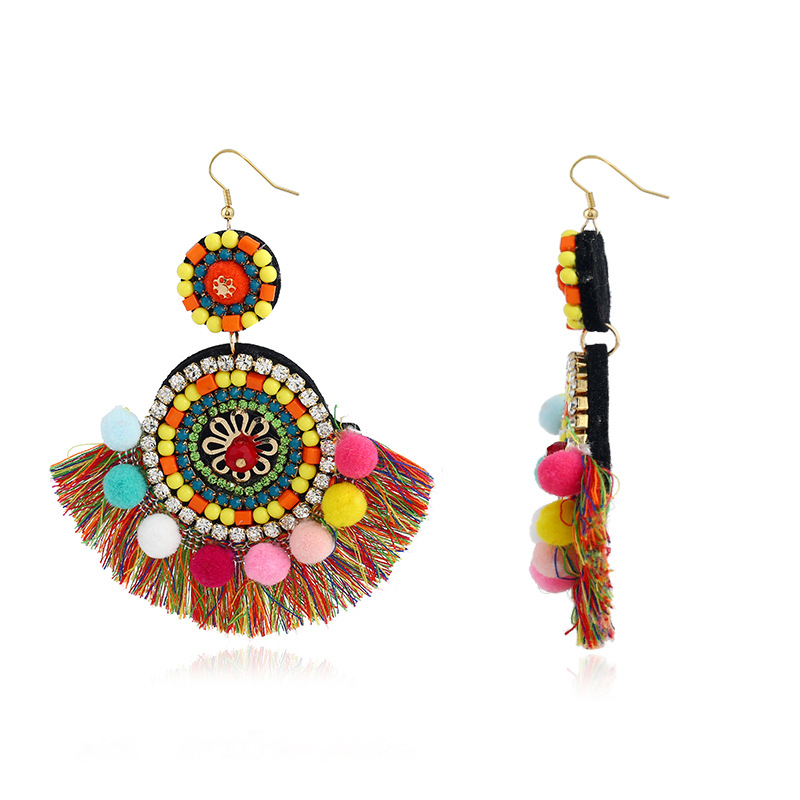 Occident and the United States Bead Drip oil earring (KC gold - black)NHKQ1145-KC gold - black