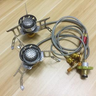 煤气罐连接管 家用钢瓶一分二转接户外炉头 野营炉具转换器改装配