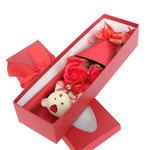 圣诞礼物3朵香皂花束小熊玫瑰礼盒 生日教师节创意礼品批发肥皂花