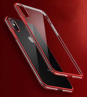 新款iPhone X手机壳苹果7 8 电镀三段式手机保护壳 苹果手机外壳