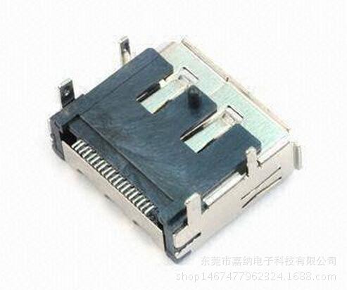 高清连接器DisplayPort SMT带定位柱铜壳