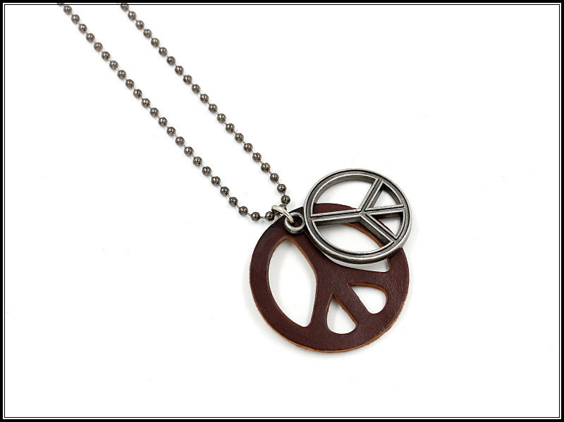 Pendant necklace vintage bead chain leather couple sweater men and women fashion necklace NHHM195670