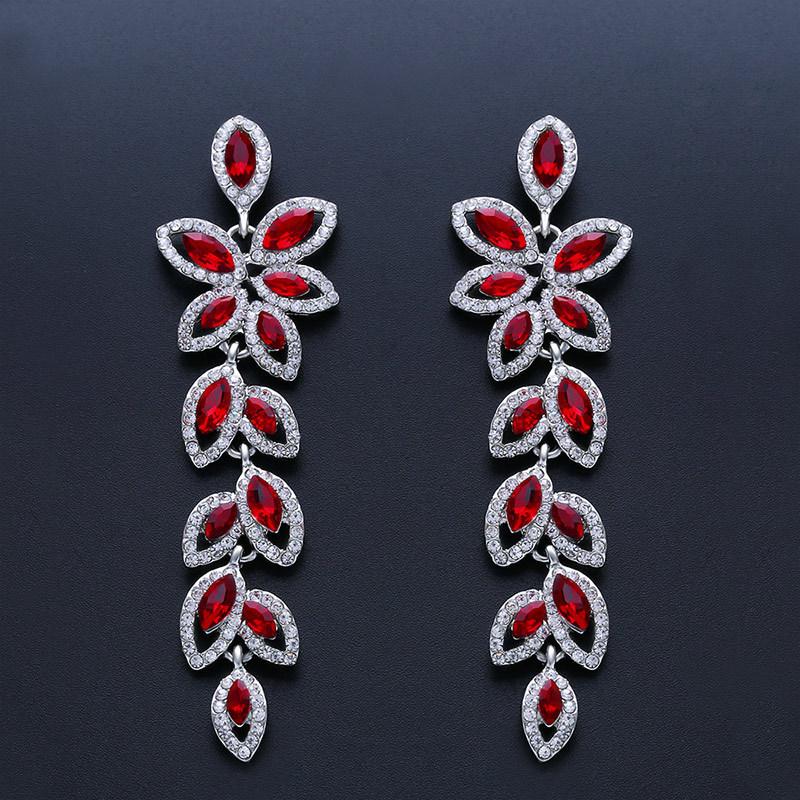 Imitated crystal&CZ Fashion Tassel earring  (Alloy)  Fashion Jewelry NHAS0628-Alloy