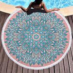 Фабрика прямой круглый печатных пляжное полотенце из микрофибры пляжный коврик мандалы шаблон шаль можно настроить ЛОГОТИП