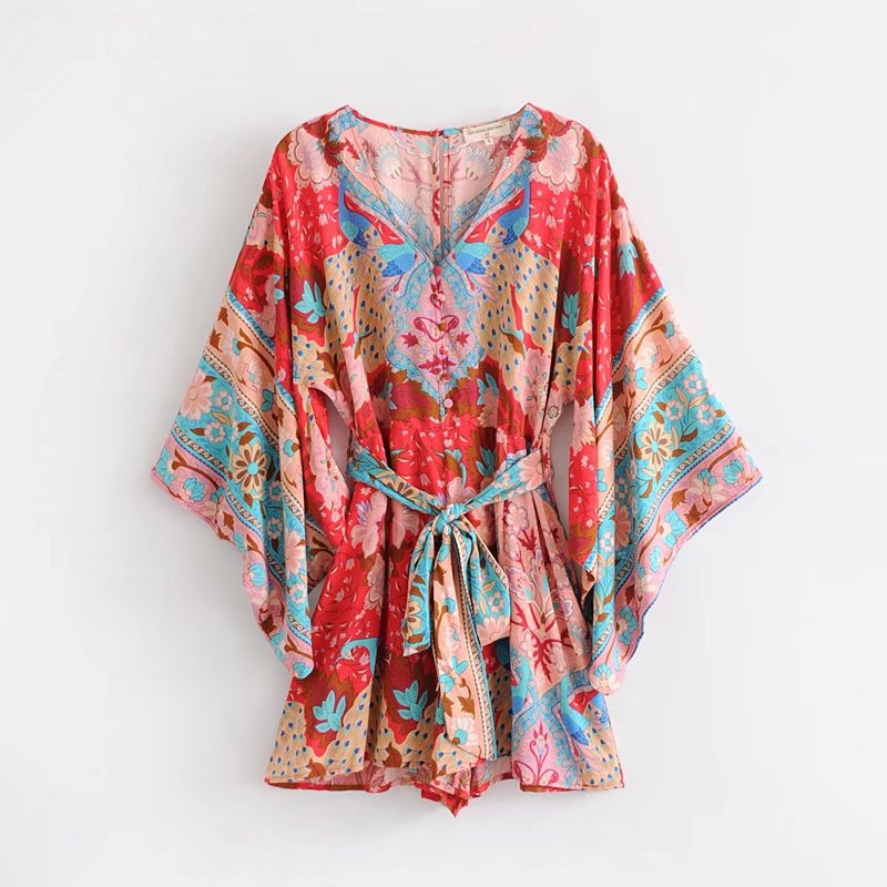 Spring red peacock positioning jumpsuit NHAM138469