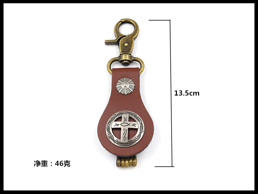 New creative stickers keychain exquisite small gift punk pendant custom men's key ring NHHM194469