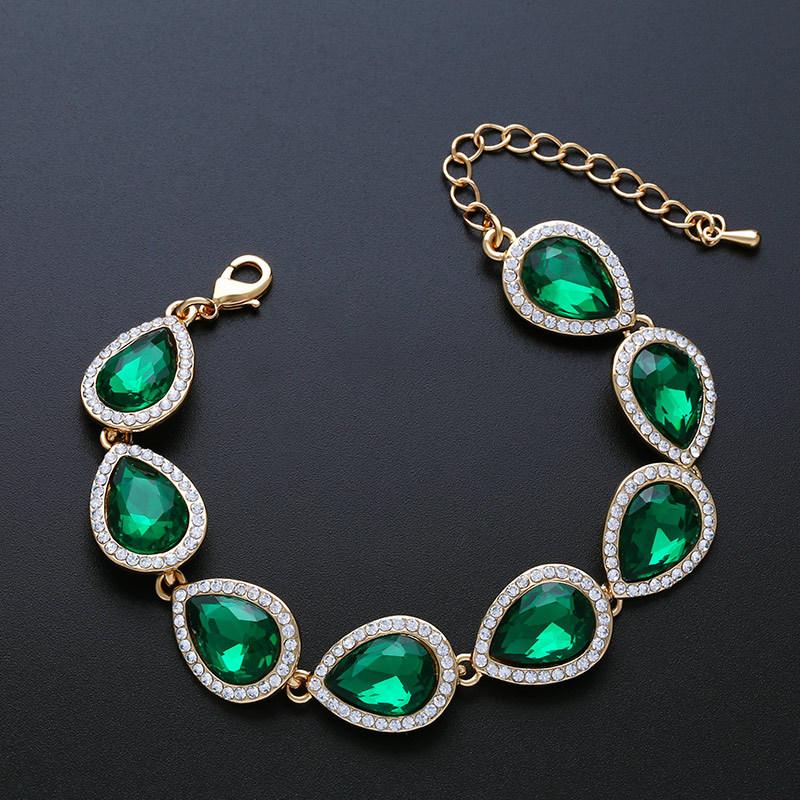 Imitated crystal&CZ Fashion Geometric bracelet  (Alloy)  Fashion Jewelry NHAS0606-Alloy