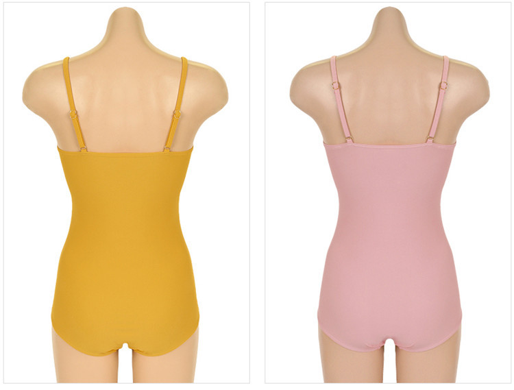 New conjoined triangle sweet yellow pink cover belly was thin hot spring swimsuit women NHHL198862