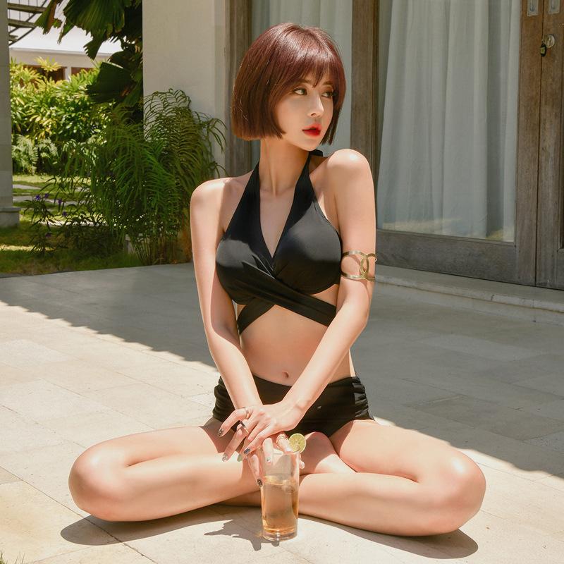 New split triangle was thin bikini hot spring swimsuit women NHHL198349
