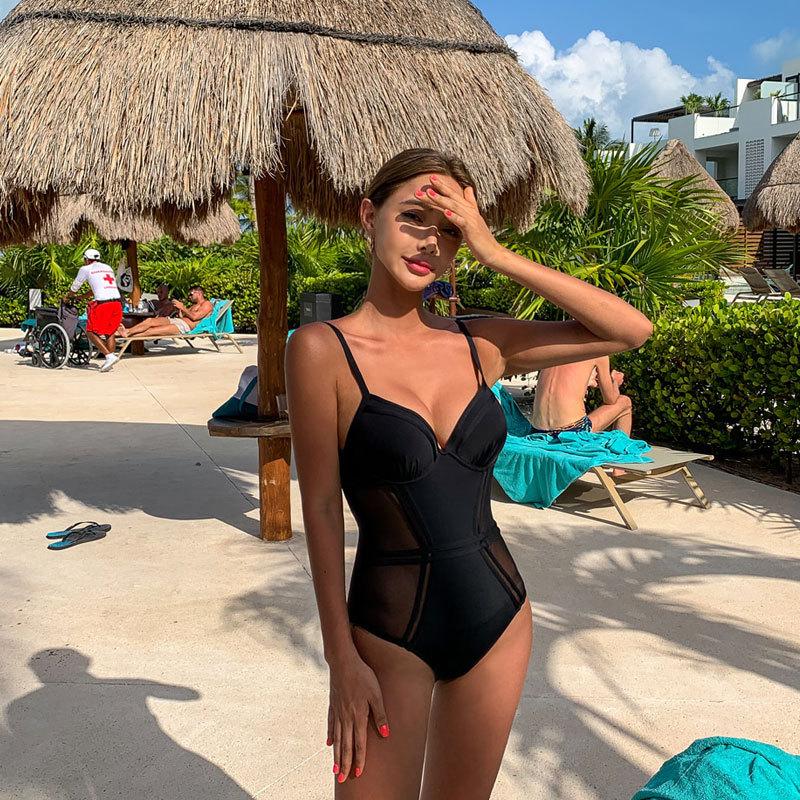 New OnePiece Swimsuit Fashion Leak Back Swimsuit Wholesale Fashion Women39s Monokinis NHHL198943