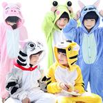 Детский динозавр животное фланель животное Stitch цельная пижама с длинными рукавами мультфильм родитель-ребенок осень и зима мужчины и женщины ребенок