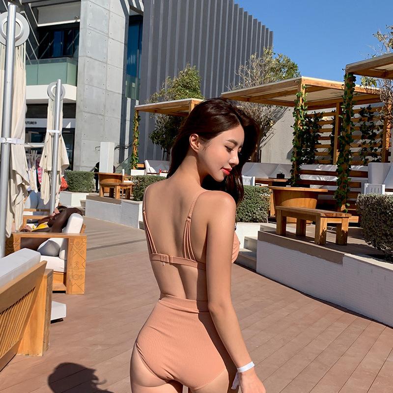 New split threepiece sexy lace white bikini swimsuit NHHL198391