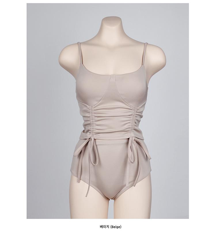 New girl split twopiece vacation beach bikini drawstring swimsuit NHHL198908
