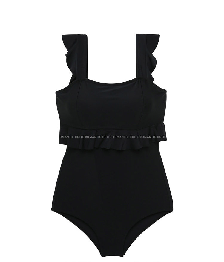 New sexy female onepiece swimsuit nihaojewelry wholesale lotus leaf hot spring covered belly triangle swimsuit NHHL213066