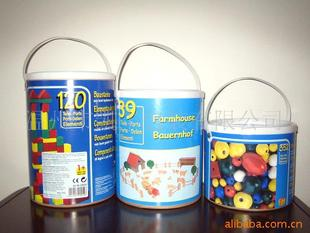 Supply of new, safe, easy to use building blocks toy packaging drum