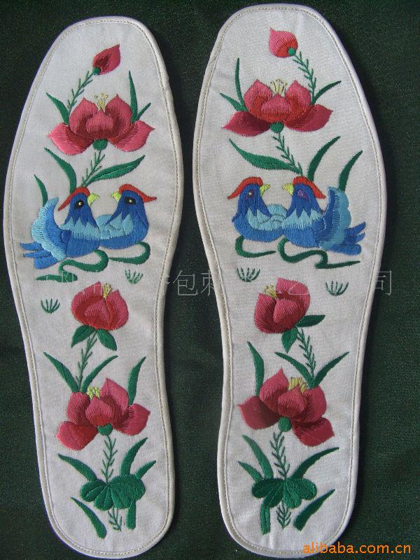 庆阳纯手工绣花鞋垫 动物图案鞋垫 金鸡 马 羊 婚庆礼品 -价格,厂